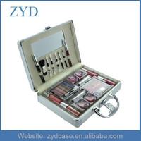 Aluminum Cosmetics Carry Train Case Silver Cheap Makeup Box, ZYD-MK022