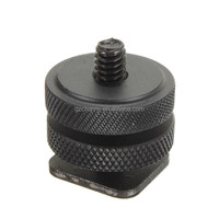Professional Durable 1/4-20 Tripod Mount Screw Adapter to Camera Hot Shoe Adaptor For Nikon DSRL Big size BLACK Studio Accessory