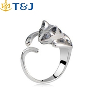 >>> 2016 new Arrivals Fashion Jewelry Wholesale Individual Special Cute Animal Silver Opening Finger Cat Ring/