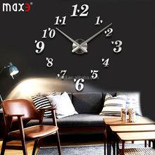 Silent Movement 3D EVA Wall Decor Decal DIY Wall Clock For Bedroom