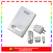 White dual usb fulll capacity portable power bank battery case