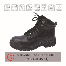 Waterproof leather upper steel toe cap safety boots for work man NO.9034
