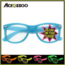 Night Club Party Events Glasses, Promotion Glow in The Dark Sunglasses With light