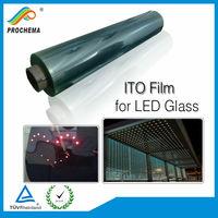 LED Glass 50ohm ITO Film LED Film Transparent Conductive ITO Film