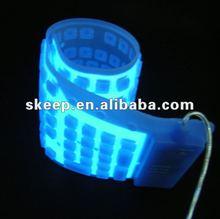2012 hot selling EL Waterproof Flexible Lighting flexible Keyboard for promotion gifts