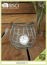 forma cesto in ferro vetro interno supporto di candela