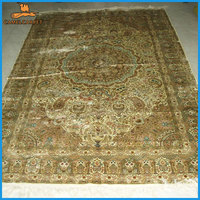 yellow color 5x8 persian isfahan rugs for sale