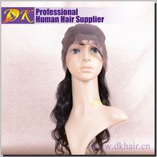 Guangzhou DK Best selling brazilian hair full lace wig,silicone base wig
