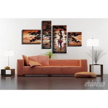 Hot sale Nude african women painting for home decoration