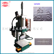 Large Format Pneumatic Embossing Logo Machine For Leather , metal sheet , dog tag metal