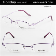 2015 hot sale fashion half rim titan frame men eyewear glasses spectacle frames