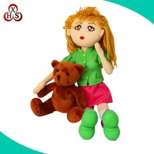 OEM Sexy women and dog, plush doll with dog toy