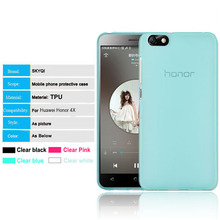 Jelly TPU back cover phone case for huawei honor 4c 4x