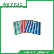 Striped Africa Market Poly Die Cut Shopping Bag with Gusset