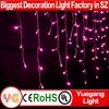 drooping wedding party led Xmas lights Icicle Curtain lights for xmas decoration