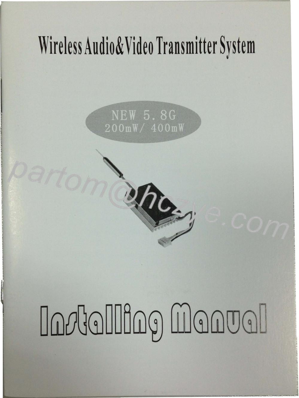 5.8GHz 400mW wireless video transmitter receiver