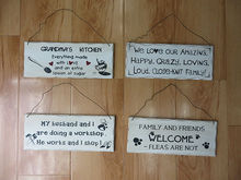 2014 Newest Top Quality Fashion sweet words wooden sign for home