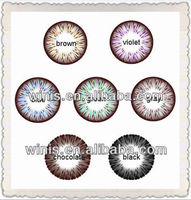 Korean 19.8mm diameter doll baby color contact lens / colored contact lens 7 colors in stock wholesale