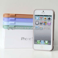 flip cover case ,folio tpu case for apple iphone5