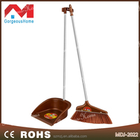 New pp durable dustpan and broom with stainless steel handle