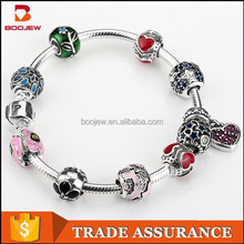 Fashion jewelry design silver oxide accessories silver beads handmade silver bracelet, artificial jewelry wholesale