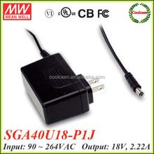 Meanwell SGA40U18-P1J 40w 18v switching adapter