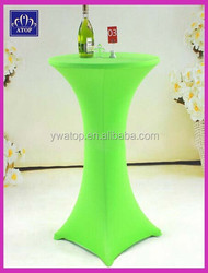 Apple Green Lycra Stretch Cocktail Table Cover Beer Bar Spandex Table Cover