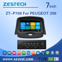most professional android gps car dvd for peugeot 206 dashboard with bluetooth gps navigation system