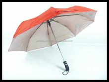 Anti wind auto open and colse fashion 3 folding umbrella