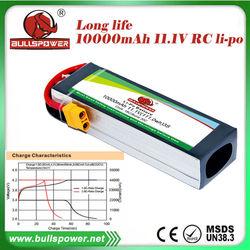 Propel rc helicopter 11.1v 10000mah 18C li-ion battery test equipment