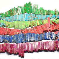 SM3081 Sea sediment jasper graduated stick beads,aqua terra imperial jasper stick beads