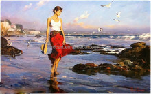 Handmade oil painting high quality picture women painting on canvas