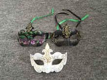 Mardi Gras Peacock Feather Masks