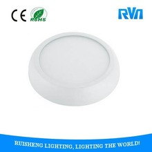 modern designed smooth housing 18W laser engraving round surface mounted led panel light CE ROHS