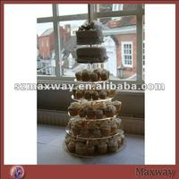 Crystal 7 tiers round perspex cupcake display stand