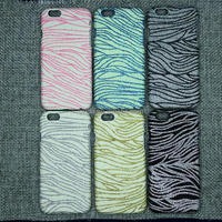 Glitter Bling Shining Zebra Hard Back Case For Apple iPhone 6 4.7