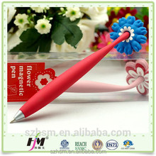 Printing logo available colorful PVC magnetic ball pen