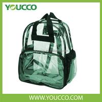 Fashion Clear Clear Vinyl Zipper Strap Backpack