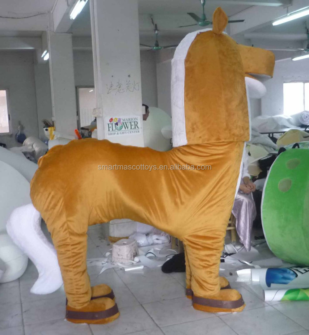 product gs adult  persons white horse mascot costume