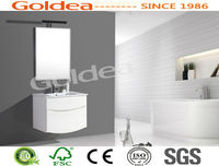 luxurious high glossy white lacquer bathroom vanity