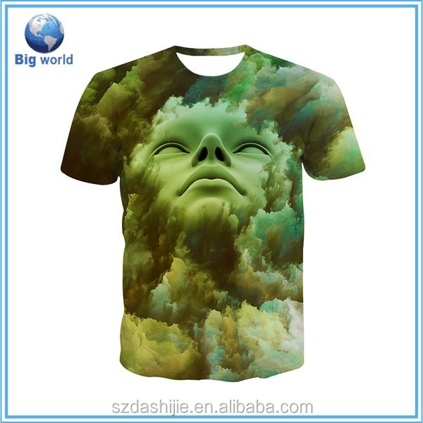 Dye sublimation t shirt printing polyester t shirt for All over dye sublimation t shirt printing