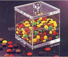 Custom clear acrylic candy dispenser boxes factory supply