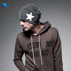 New Fashion Korean UNISEX Men Women Star Knit Hat Skull Cap Ski Knit Hat