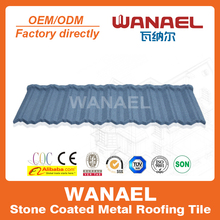 Wanael economic stone coated metal roof tile/fiber cement roof tile/best lightweight roofing materials