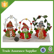 Popular Product Colorful Snowman Resin Christmas Ornament