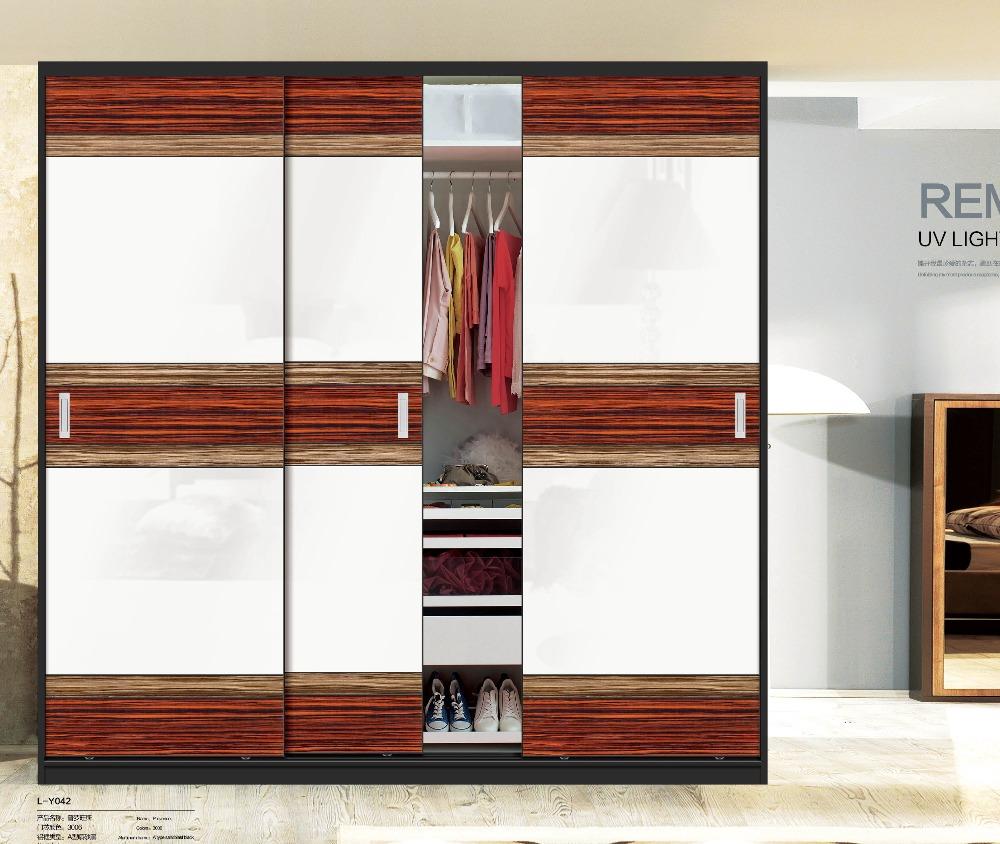 Garde robe moderne verre placard porte coulissante avec serrures portes id - Garde robe avec porte coulissante ...