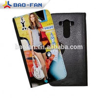 Sublimation Leather Flip Mobile Phone for LG G3 Sublimation Heat Transfer Printing Leather AAA quality