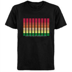 Sound active flash Equalizer LED T-Shirt