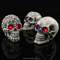 Wholesale Halloween Resin Skull Led Decoration Creative Novelty Toys Tricky Funny props