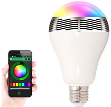 2 in 1 LED Light Bulb Lamp & Wireless Bluetooth 4.0 Speaker E27 Base Music Player Sound Box Lighting with Remote Control 2015